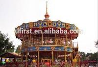 New design Luxury double decker carousel