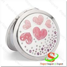 2015 new heat transfer makeup pocket mirror-heart shape