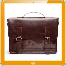 mens vintage pu leather messenger bag