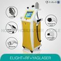 Elight rf nd yag laser machine de beauté soins de la peau salon multifonctions. 1064nm 532nm poupée noire