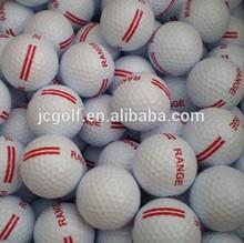 Bulk 2 layer driving range golf ball printed with red stripe