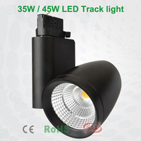 CE RoHS ErP SAA TUV CRI80 White and Black surface 3 circuit 35W sharp cob led track light flex with Globle adapter
