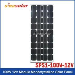 100W 12V Module Monocrystalline Solar Panel