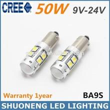 Hot Selling White 50W T4W BA9S LED Clearance Light Bulb Car