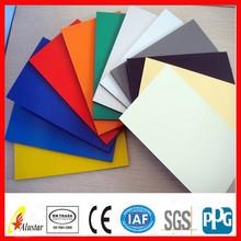 different surface treatment pe/pvdf aluminum plastic composite panel