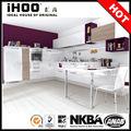 armário de cozinha apartamento moderno laca branca modelo de cozinha design