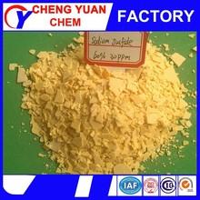 yellow flake sodium sulfide 60% flakes msds
