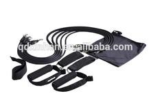 Five tubes black resistance band exerciser kit for fitness