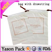 Yason disposable colored drawstring trash garbage bag d2w biodegradable drawstring garbage bag draw tape bag / drawstring garbag