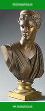 Customed modern garden sculpture bronze bust beethoven statue