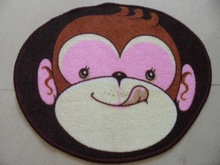 cute monkey polyester print baby play mats