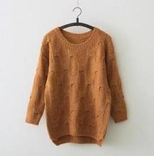 Z73274A Korean Style Winter Simple Wave Pattern Women's sweater