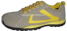 Moda de cementación para hombre de cuero de gamuza barato de seguridad de la zapatilla de deporte