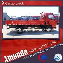 4x2 used light truck, 6 ton light truck diesel engine, 124hp light diesel truck