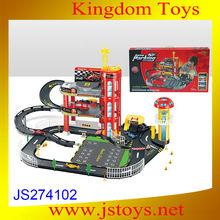 kids race alloy car parking lot track set
