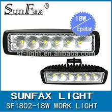 2015 hot sale 18w single row led work light , flood/ spot beam, for 4wd car