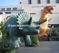 2015 vendita calda vivido dinosauro gonfiabile per la pubblicità o decorazione