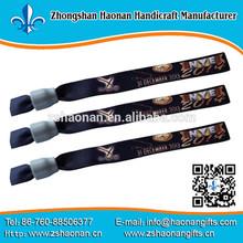custom woven wristbands custom festival / Slap Wristband/ Wholesale Slap Bracelet for teenagers