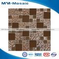 Novo projeto do banheiro de vidro mosaico de azulejos/foshan belo mosaico de vidro