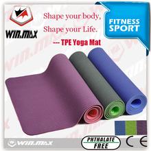 Winmax yoga mat custom label, tpe folding yoga mat