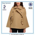 2015 tendência china fábrica grosso marrom mulheres capa poncho de lã de