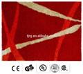 exposição de natal personalizado macio qualidade tapetes shaggy do poliéster