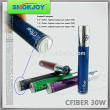SMOKJOY 2400mah vv battery hange chip carbon fiber Cfiber 30w most popular skull e-cigarette