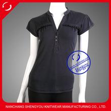 Custom new design100 cotton women polo t shirt wholesale china