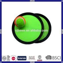 china fabricación de encargo de playa de plástico de velcro captura juego de pelota