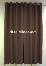 New design silk effect curtains blackout fabric