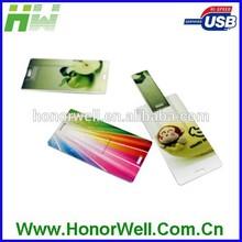 Customize Printing Slim Credit Card Shape Usb Flash Drive Disk Pen Drive