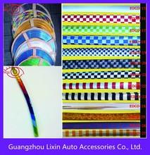 la puerta del coche de parachoques tiras con adhesivo excelente y cromado de superficie