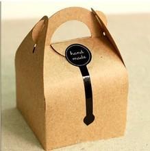 Custom brown kraft paper cake or gift packaging bag or box
