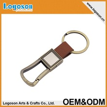 China Factory new arrival pu leather keychain