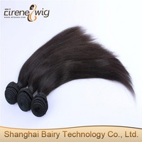 Natural Straight Chinese Human Hair Shanghai Weave Extension