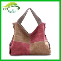Euro classic style contrast color bags crossbody hobo bag canvas hobo bag