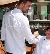 wholesale stock chef uniform/restaurant uniforms/custom make coat