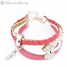 2015 YIWU Hot Sale Fashion High Quality Wholesale Girl Bracelet Bow Link
