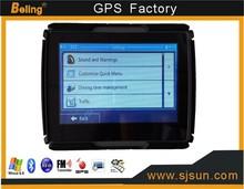 motorcycle waterproof gps navigator with bluetooth Av-in function 4.3inch screen