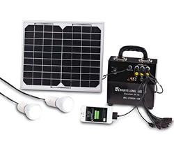10W portable solar powered light kit with 2 pcs 5w led lights