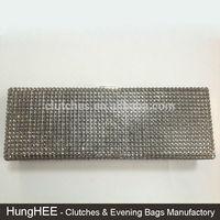 Hard Case Box Fully Crystal Evening Purses Rhinestone Crystal Clutch Bag