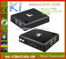 K1 Quad core Amlogic S805 1GB ram /8GB google 4.4 OS DVB T2 Android STB S2 H.265 dvb t2 receiver