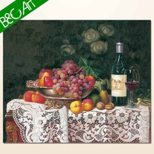 High quality wine canvas fruit and flowers oil paintings