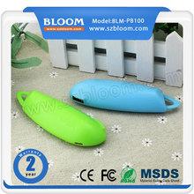 OEM bloom entire plastic 2600mah rohs power bank 2600mah latest design 2600mah power bank