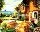 The Villa on the Sea Beach oil painting.
