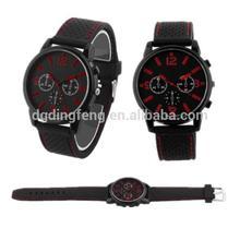 Imported Janpan Quartz Men Watch Silicone , Silicone Fashion Watch , Colorful Silicone Watch