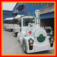Amusement park diesel tourist train kids trackless train for sale
