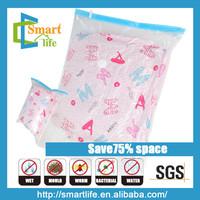 folding plastic pa pe hanging vacuum bag for long clothes