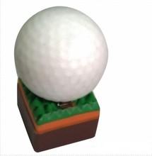 Fashion golf shape Plastic flash USB drive , popular golfball USB 2.0
