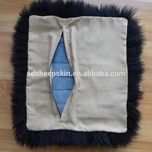 Long Hair Sheepskin Wool Plush Floor Cushion